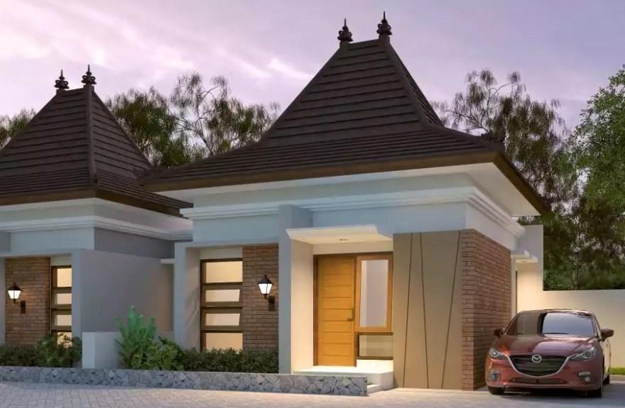 atap joglo rumah minimalis